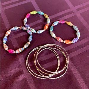 Assorted chunky bracelets & bangles